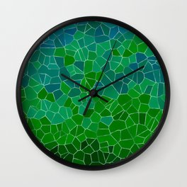 Mosaic Forest Wall Clock