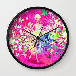 Butterflies dress Wall Clock