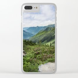 Cascade Mountains Clear iPhone Case