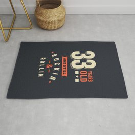 33 Years Old - 33rd birthday Gift Rug