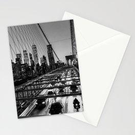 Crossing the Brooklyn Bridge Stationery Cards