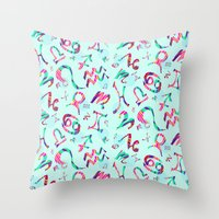 zodiac Throw Pillows featuring Zodiac  by Art Tree Designs