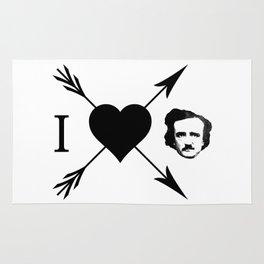 I Love (Heart) Edgar Allan Poe Rug