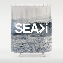 SEA>i  |  The Wave Shower Curtain