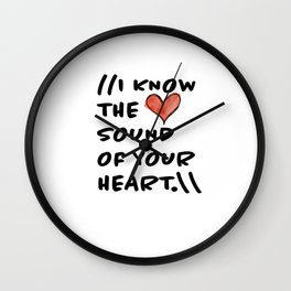 Sound of Your Heart Wall Clock