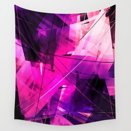 Rebellious Reflections - Geometric Abstract Art Wall Tapestry