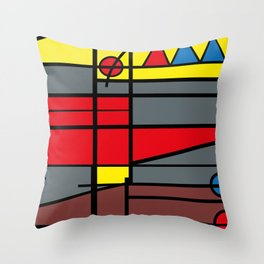 Edificio de comunicaciones UCV -Detail- Throw Pillow