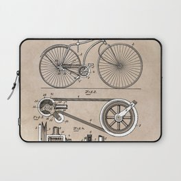 patent Bicycle 1890 Rice Laptop Sleeve