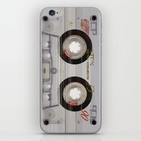 transparent iPhone & iPod Skins featuring Cassette Transparent by Diego Tirigall