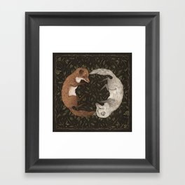 Foxes Framed Art Print