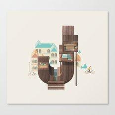 Resort Type - Letter J Canvas Print