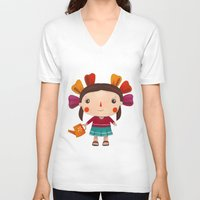 lolita V-neck T-shirts featuring Lolita by Gabriela Granados