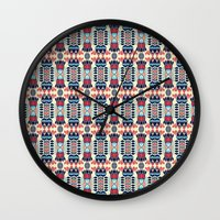 camp Wall Clocks featuring Camp by Daniac Design