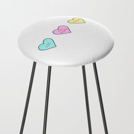 Conversation Hearts Counter Stool
