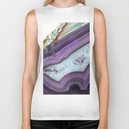Purple Agate Slice Biker Tank