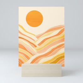 Golden Mountain Sunset Mini Art Print