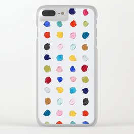 Polka Daubs Clear iPhone Case