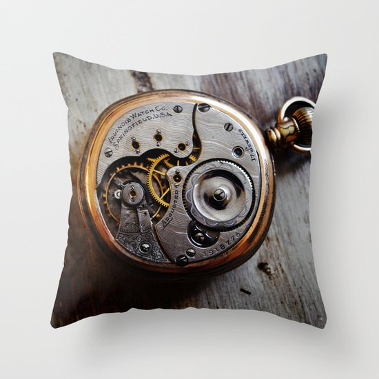 The Conductor's Timepiece - 1 Throw Pillow