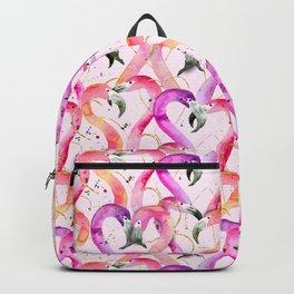 Pink Flamingo Hearts Backpack