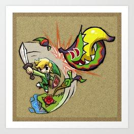 Legend of Zelda Wind Waker Boko Baba T-Shirt Art Print