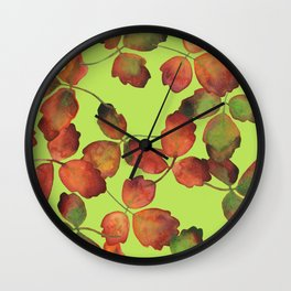 ACID & OAK, pattern by Frank-Joseph Wall Clock