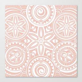 Flower circle pattern Light Canvas Print