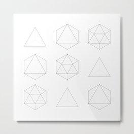 Geometry: Tetrahedron, Octahedron, Icosahedron Metal Print