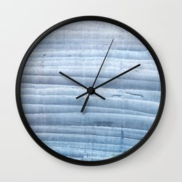 Blue waves abstract painting Wall Clock