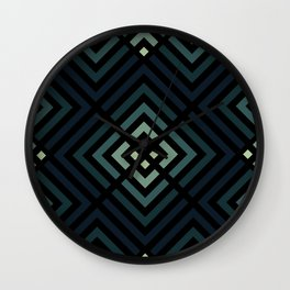 Navy Ombre Pattern Wall Clock