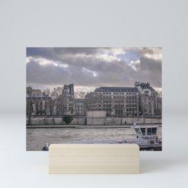Seine wharf,  Paris Mini Art Print
