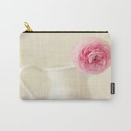 Textured Ranunculus Carry-All Pouch