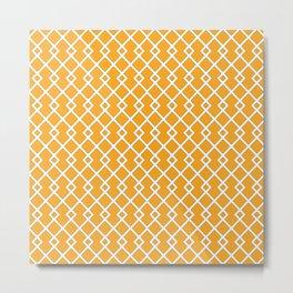 Orange Diamond Pattern Metal Print