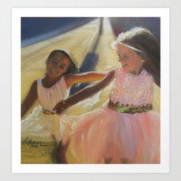 Ballerina Besties Art Print