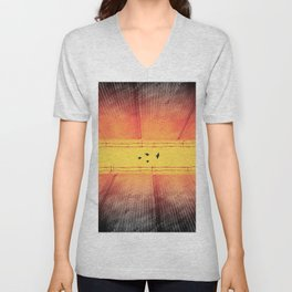 The Closing Apartheid wall in Palestine Unisex V-Neck
