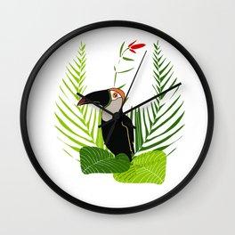 Proud toucan Wall Clock