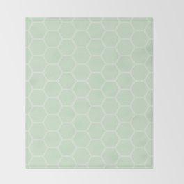 Honeycomb Light Green #273 Throw Blanket