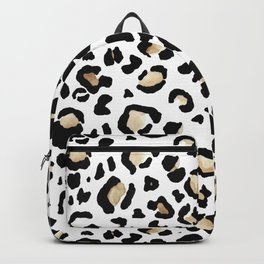 Leopard Animal Print Watercolour Painting Backpack