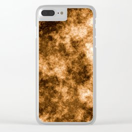Brown & white abstract d171223 Clear iPhone Case