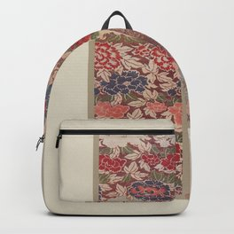 Verneuil - Japanese paper and fabric designs (1913) - 16: Chrysanthemums & Peonies Backpack
