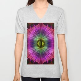 rainbow wood Unisex V-Neck