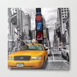 Taxi State of Mind Metal Print