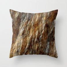 Wet gold stone Throw Pillow