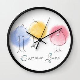 Summer Fauna Wall Clock