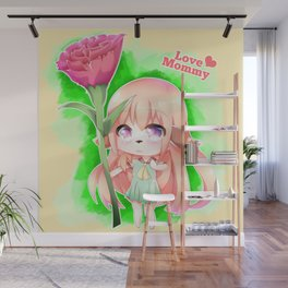 Happy Mother's Day Furry Girl Wall Mural