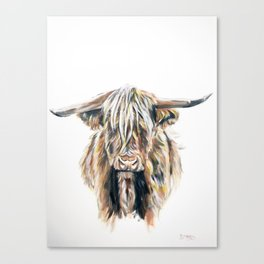 HIGHLAND BULL // STAY WILD Canvas Print