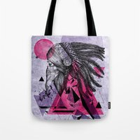 indian Tote Bags featuring Indian by Marlon Hammes