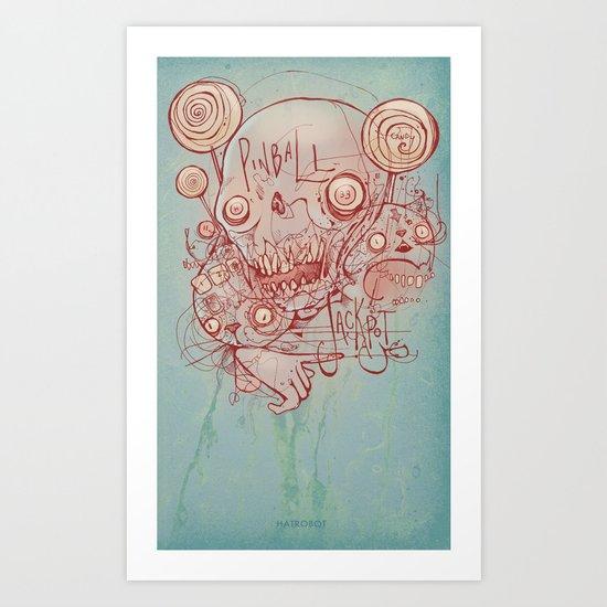 Pinball Jackpot Art Print