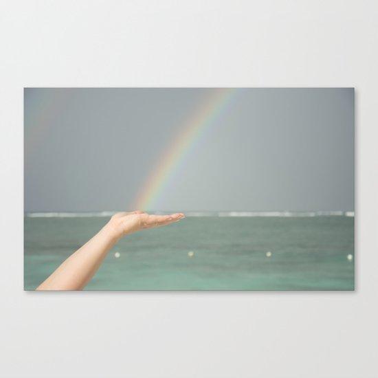 Rainbow Hand Canvas Print