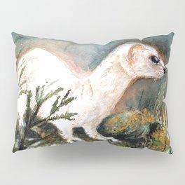 Winter stoat watercolor Pillow Sham