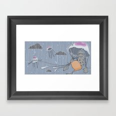 Rainstorm-blue Framed Art Print